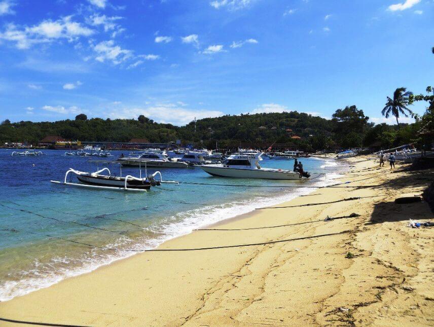 Tekstur Pasir Pantai Padang Bai