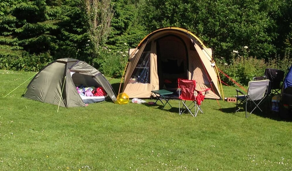 Tempat Camp di Pantai Cemara