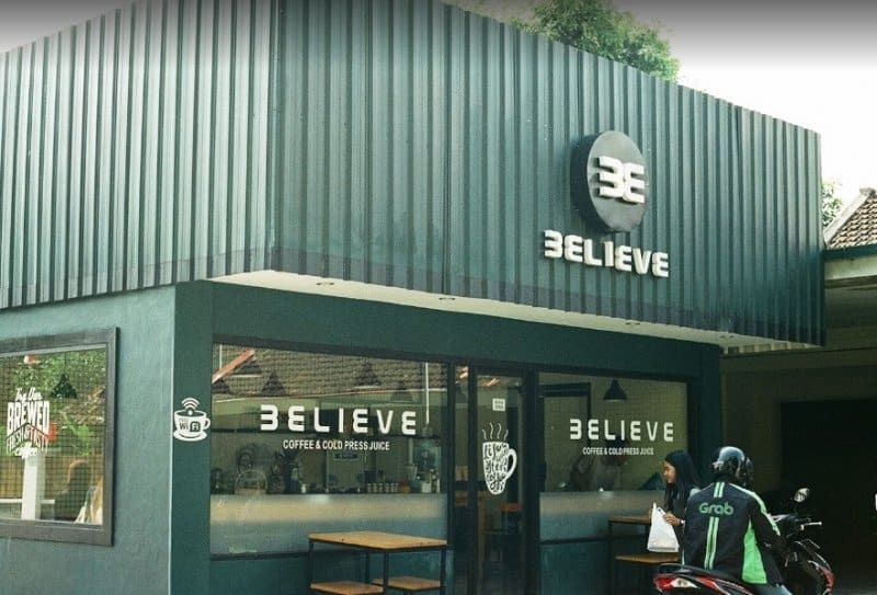 cafe di jogja Believe Coffee & Cold Press Juice