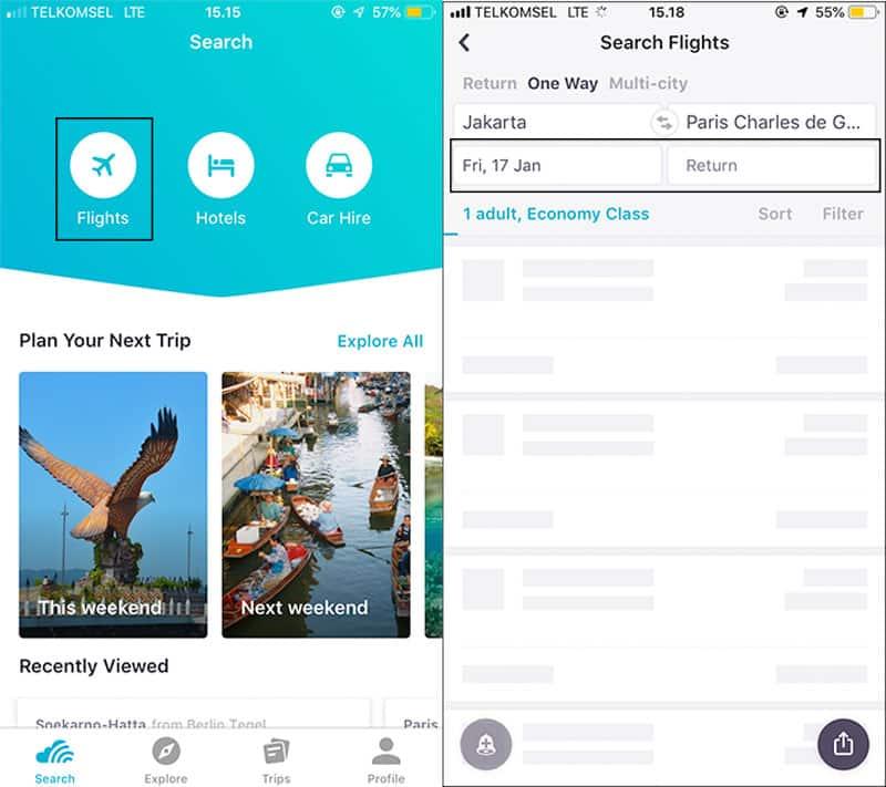 Tips mendapat tiket pesawat murah via aplikasi