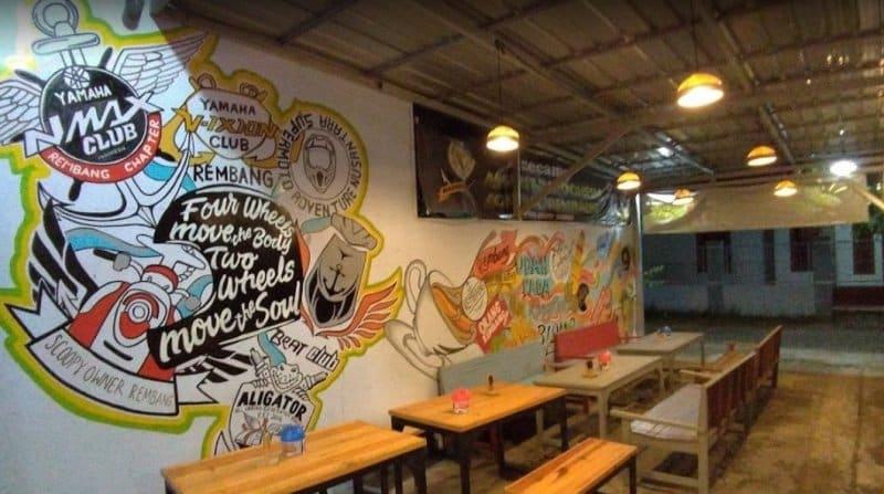 cafe di rembang ada tempat karaoke