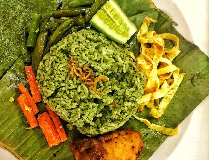 nasi uduk hijau sukabumi
