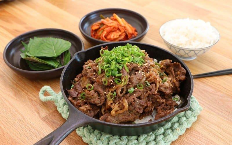 makanan khas korea selatan bulgogi
