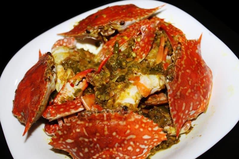 kepiting sambal ijo kuliner khas tulunagung