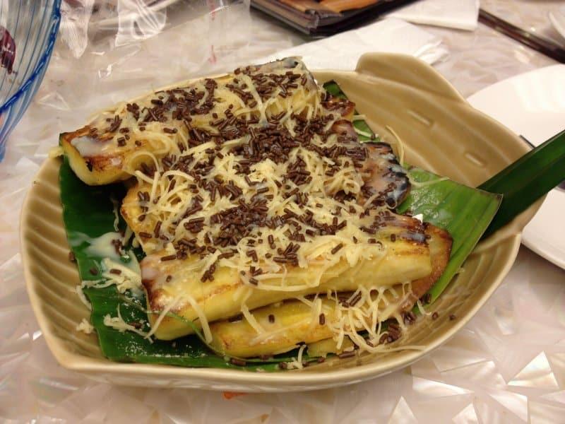 pisang gapit kuah durian